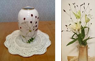 吾亦紅(ワレモコウ)の花瓶・花